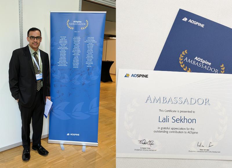 Dr. Lali Sekhon AOSpine Ambassador