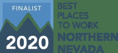 Best Places to work Northern Nevada 2020 Finalist